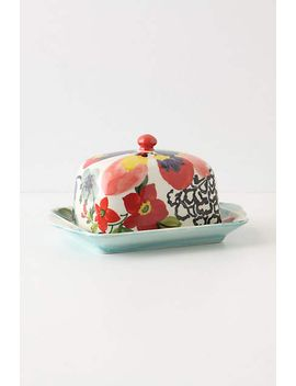 painted-amaryllis-butter-dish by anthropologie