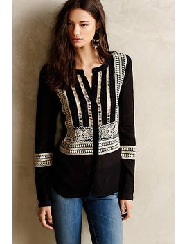 hasna-embroidered-blouse by anthropologie