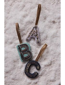 sparkled-monogram-ornament by anthropologie