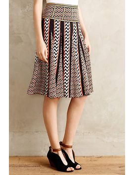 chevron-striped-skirt by anthropologie