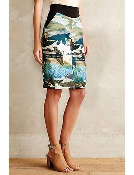 range-&-river-neoprene-pencil-skirt by anthropologie
