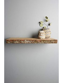 live-edge-wood-floating-shelf by anthropologie