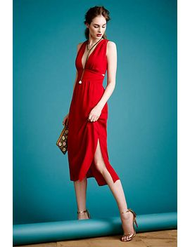 silk-cut-out-dress by anthropologie