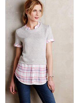 picnic-plaid-layered-sweatshirt by anthropologie
