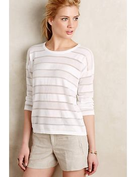 sheer-stripe-pullover by anthropologie