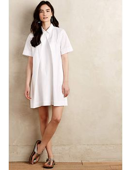 button-pleat-shirtdress by anthropologie