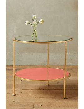lacquered-round-side-table by anthropologie