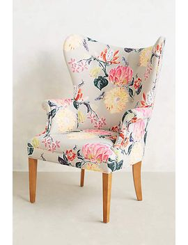 lotus-blossom-wingback-chair by anthropologie