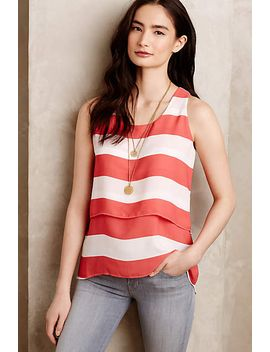 poppy-stripe-petite-top by paper-crown-+-rifle-paper-co