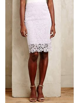 lace-veiled-pencil-skirt by anthropologie