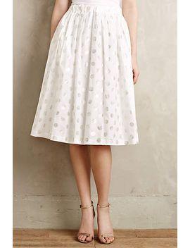 shimmer-spot-midi-skirt by nicholson-&-nicholson