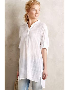 paned-high-low-buttondown by anthropologie