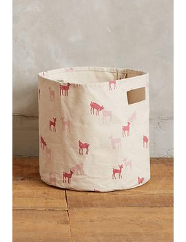 frolicking-fawns-canvas-bin by pehr
