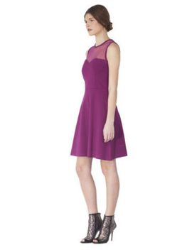 Ponte Jersey Dress With Embellished Sweetheart Neckline by Red Valentino