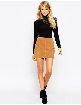 asos-mini-skirt-in-suede by asos-collection
