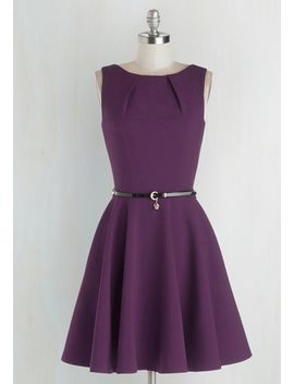 luck-be-a-lady-a-line-dress-in-violet by modcloth