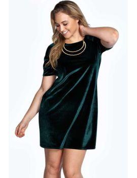 plus-julia-velvet-shift-dress by boohoo