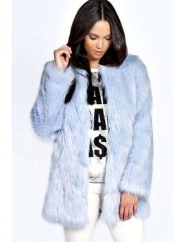 brody-longline-plush-faux-fur-coat by boohoo