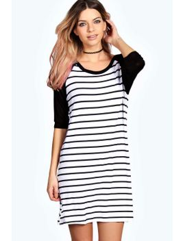 liza-raglon-sleeve-tshirt-dress by boohoo
