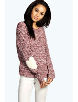 tracy-harper-heart-elbow-patch-jumper by boohoo
