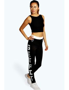 irena-slogan-sports-leggings by boohoo