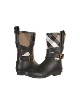 Brit Check Biker Boots by Burberry