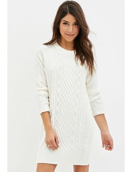 cable-knit-sweater-dress by forever-21