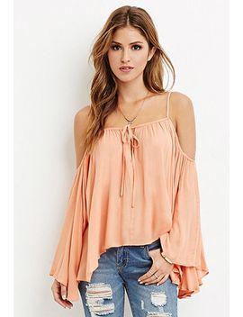 4c99061a0965 Shoptagr   Drapey Open Shoulder Blouse by Forever 21