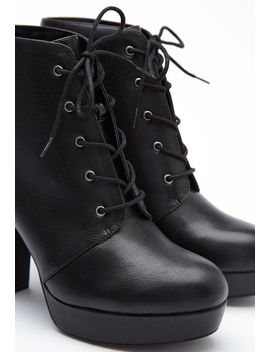 faux-leather-platform-booties by forever-21