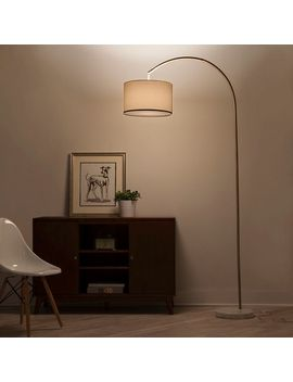 shaded-arc-with-marble-base-floor-lamp-brass---project-62 by adesso