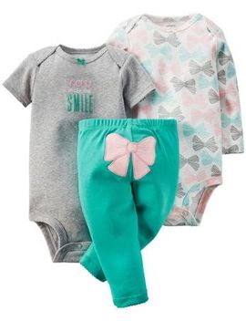 Carter's 3 Piece Take Me Away Set (Baby)   Bow 3 Months by Carter's