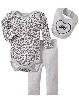 Bon Bebe Love Animal Print Bodysuit Set (Baby) Multicolor 0 3 Months by Bon Bebe