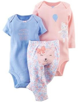 Carter's 3 Piece Take Me Away Set (Baby)   Bear 3 Months by Carter's