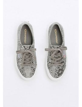 superga-snake-lace-up-sneaker by delias