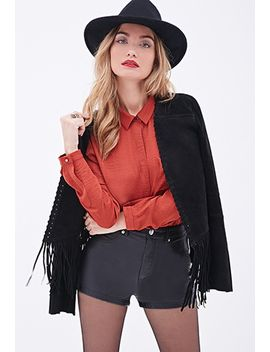 sateen-button-down-blouse by forever-21