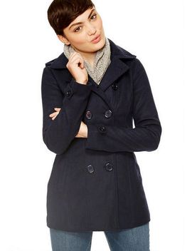 Thinsulate Hooded Peacoat by Delia's