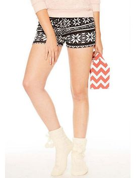 Fair Isle Knit Shorts by Delia's