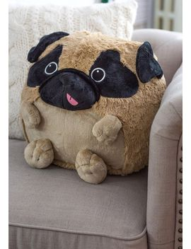 plush-one-pillow-in-pug by modcloth