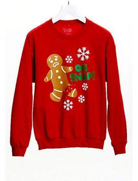 oh-snap!-gingerbread-man-sweatshirt by delias