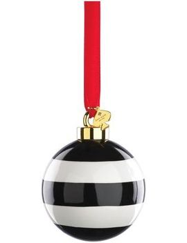 "Kate Spade New York ""Deck The Halls"" Black Stripe Ornament by Kate Spade New York"