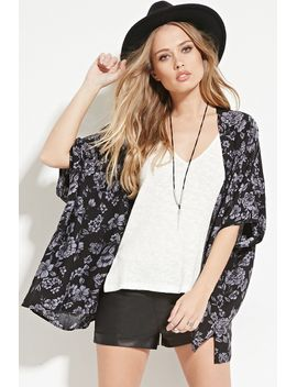 floral-open-front-kimono by forever-21