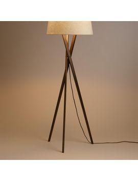 Shoptagr Walnut Wood Tripod Austin Floor Lamp Base By