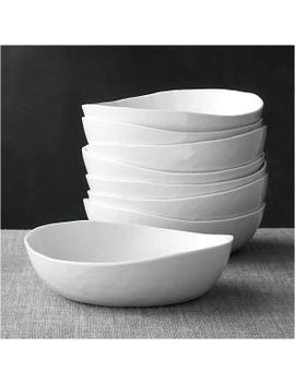 "set-of-8-mercer-8""-low-bowls by crate&barrel"
