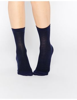 asos-plain-rib-ankle-socks by asos-collection