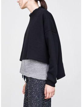 Cropped Crewneck Sweatshirt by Oak