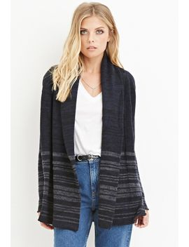 striped-shawl-collar-cardigan by forever-21