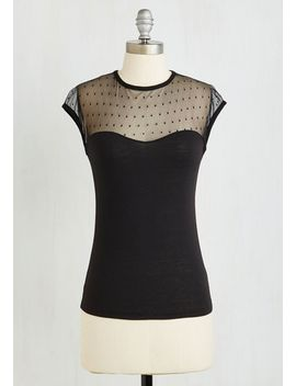 the-answer-is-sheer-top-in-black by modcloth
