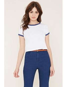heathered-ringer-tee by forever-21