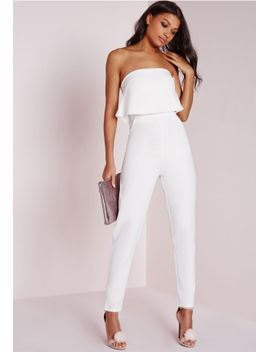 7bdde67997d0 double-layer-bandeau-jumpsuit-white by missguided