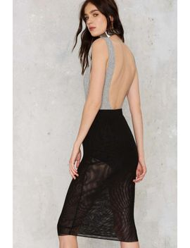 Nasty Gal Fresh Start Mesh Skirt   Black by Nasty Gal